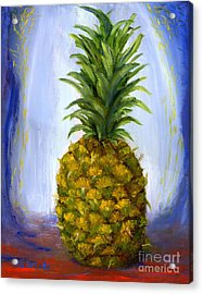 Hand Painted Pineapple Fruit  Acrylic Print