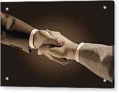 Hand Shake Acrylic Print