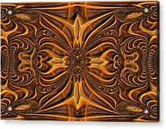 Hand-tooled Acrylic Print by Wendy J St Christopher