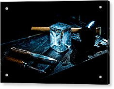 Handcrafted Icecube Acrylic Print by Wolfgang Simm