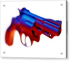Handgun. Acrylic Print by Mark Preston