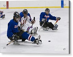 Handicapped Ice Hockey Players Acrylic Print