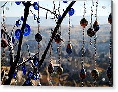Handicrafts In Cappadocia Acrylic Print by Jacqueline M Lewis