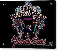 Handle Bars In Neon Acrylic Print