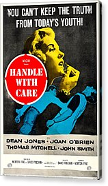 Handle With Care, Us Poster, Top Joan Acrylic Print