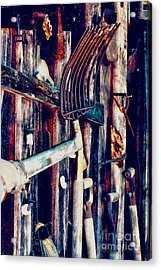 Acrylic Print featuring the photograph Handles And The Pitchfork by Lesa Fine