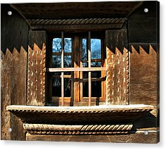 Handmade Wood Window Acrylic Print by Daliana Pacuraru