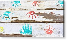 Handprints Acrylic Print by Tom Gowanlock