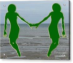 Hands Across The Ocean Acrylic Print