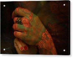 Hands Acrylic Print by Arsen Arsovski