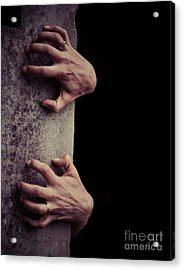 Hands Crawling Out Of The Darkness Acrylic Print by Edward Fielding