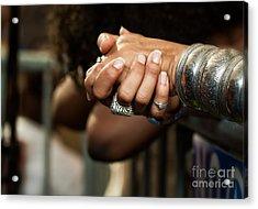 Hands Acrylic Print by Mary  Smyth