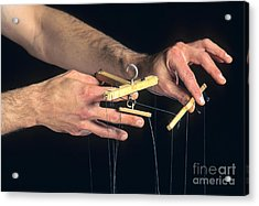 Hands Of A Puppeteer Acrylic Print