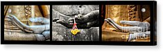 Hands Of Buddha Acrylic Print by Adrian Evans