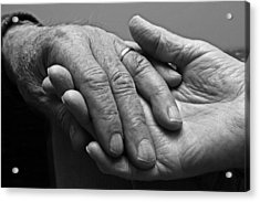 Hands Of Love Acrylic Print by Barbara West