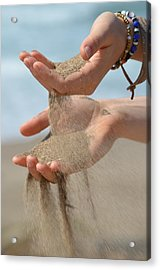 Hands Of Sands Acrylic Print