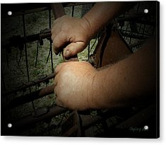 Acrylic Print featuring the photograph Hands That Feed The World by Cynthia Lassiter