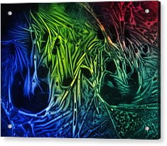 Acrylic Print featuring the photograph chemiluminescence photography Handprint by David Mckinney