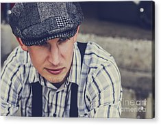 Handsome Fashionable Man In Vintage Apparel Acrylic Print by Jorgo Photography - Wall Art Gallery