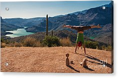 Handstand At Apache Lake Acrylic Print