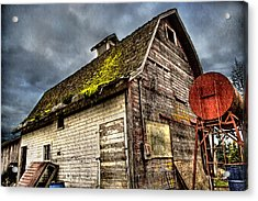 Handy Barn Acrylic Print by Arthur Fix