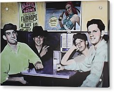 Hanging At The Diner 1949 Acrylic Print