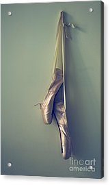 Hanging Ballet Slippers Acrylic Print by Diane Diederich