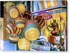 Hanging Baskets Acrylic Print