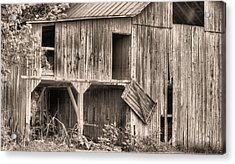 Hanging By A Moment Bw Acrylic Print by JC Findley