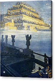 Hanging Gardens Of Babylon Acrylic Print by Cci Archives
