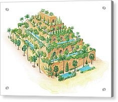 Hanging Gardens Of Babylon Acrylic Print by Gary Hincks