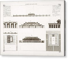 Hanging Gardens Of Babylon Acrylic Print by Science, Industry And Business Library/new York Public Library