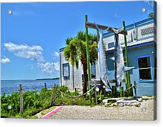 Acrylic Print featuring the photograph Hanging In Matlacha Florida by Timothy Lowry
