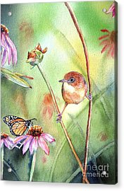Hanging In There Acrylic Print by Patricia Pushaw