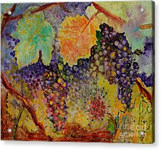 Acrylic Print featuring the painting Hanging by Karen Fleschler