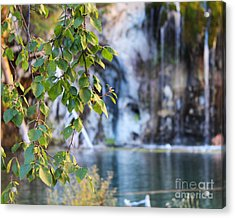 Acrylic Print featuring the photograph Hanging Lake 8x10 Crop by Kate Avery