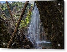 Hanging Lake Falls Acrylic Print by Michael J Bauer