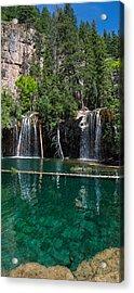 Hanging Lake Vertical Panorama Acrylic Print by Aaron Spong