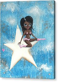 Hanging On A Star Acrylic Print