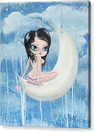 Hanging On The Moon Acrylic Print