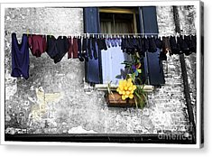 Hanging Out To Dry In Venice 2 Acrylic Print by Madeline Ellis