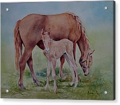 Hanging With Mom Acrylic Print by Bobbi Price