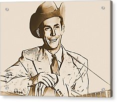 Hank Williams Acrylic Print by Dan Sproul