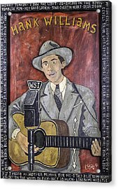 Acrylic Print featuring the painting Hank Williams by Eric Cunningham