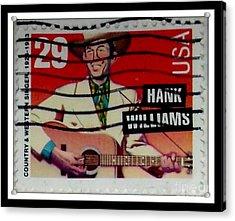 Hank Williams Postage Stamp Acrylic Print
