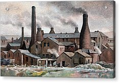 Hanley Pot Works Acrylic Print by Anthony Forster