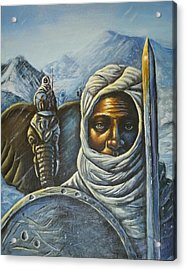 Hannibal Crossing The Alps Acrylic Print by Barbara Gray