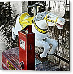 Hannibal Mechanical Riding Horse Acrylic Print by Luther Fine Art