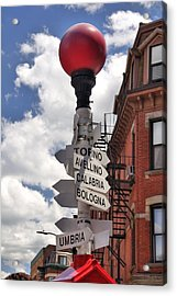 Hanover Street Boston North End Acrylic Print by Joann Vitali