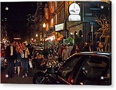 Hanover Street Nights - Boston Acrylic Print by Joann Vitali